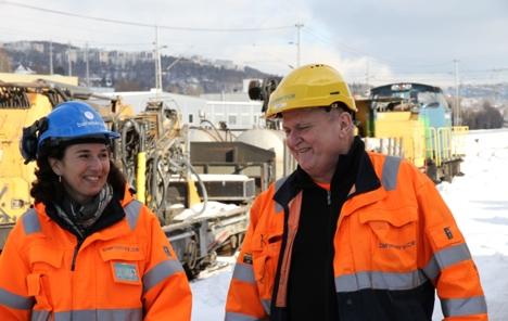 Ingvild Storås og Knut Erik Vingebakken Baneservice