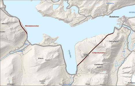 innfjord og måndalstunnelen