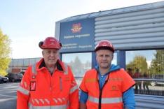 Tom Hedalen t.h. og byggeleder Svein Borgen Foto Kjell Wold, Statens vegvesen