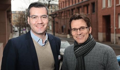 Matias Rodriguez (t.v.) og Carsten Krøger