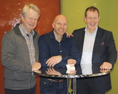 Bård Krogshus (f.v.) Gunnar Glavin Nybø og Lars Chr Christensen