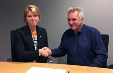 Kontraktsignering Statsbygg Bosvik
