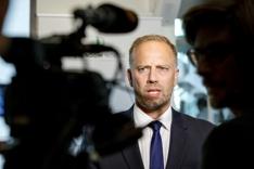 Adm dir i Eiendom Norge Christian V. Dreyer legger frem eiendomsmeglerbransjens boligstatistikk for juli 2016 i Eiendom Norge sine lokaler i Oslo onsdag.