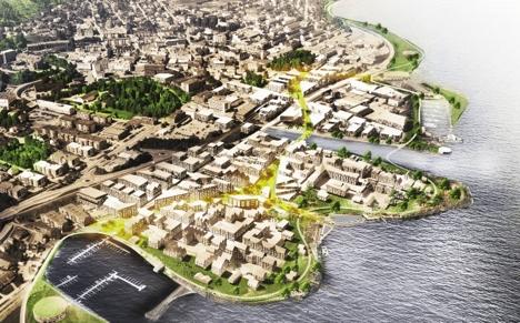 byen ved vannet urban power huntonstranda