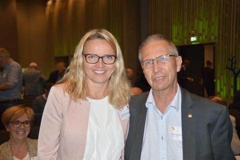 Dunham og vegdirektør Gustavsen
