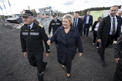 Grunnstein på Politiets nasjonale beredskapssenter.