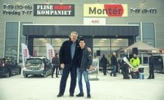 Fv. Jarle Ludvigsen, daglig leder Flisekompaniet Drammen, og Heng Hua Trieu, daglig leder i Montér Lier.