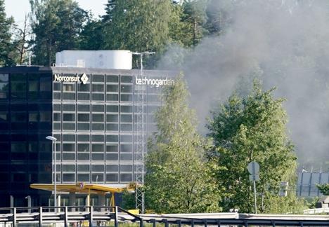 Eksplosjon i Sandvika.