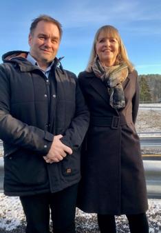 Asle Ståland i Hæhre og Anette Aanesland Nye Veier