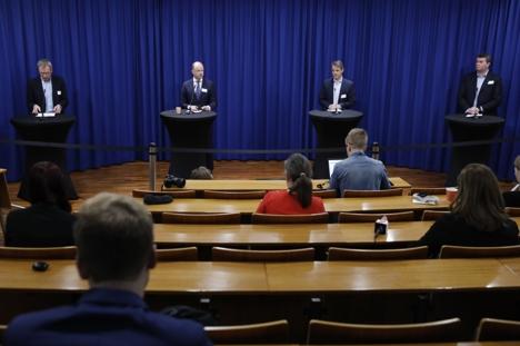 Korona. Pressekonferanse om kompensasjonsordning til bedrifter.