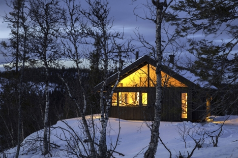 Hedvig hytte_kveldsbilde
