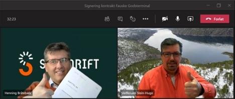 Signering kontrakt Bodø og Fauske