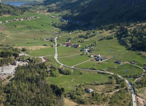 Luftfoto Myrmel-Lunde svv